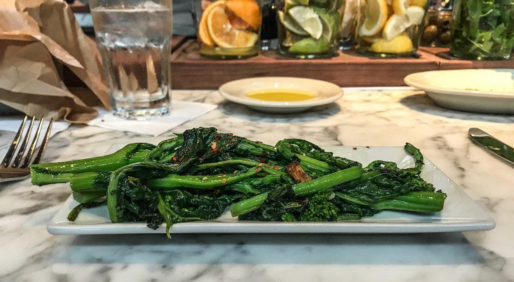 barcelona wine bar broccolini food